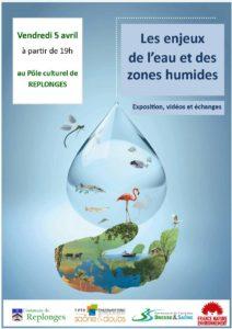 Affiche de la soirée dédiée à l'eau du 5 avril 2019